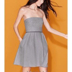 BNWT Halston Heritage Striped Folded Drape Dress